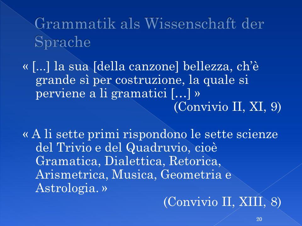 Grammatik als Wissenschaft der Sprache
