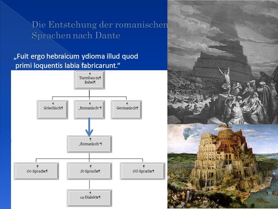 Die Entstehung der romanischen Sprachen nach Dante