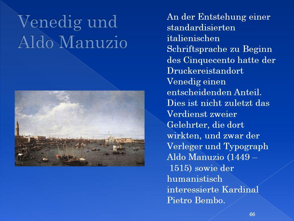 Venedig und Aldo Manuzio