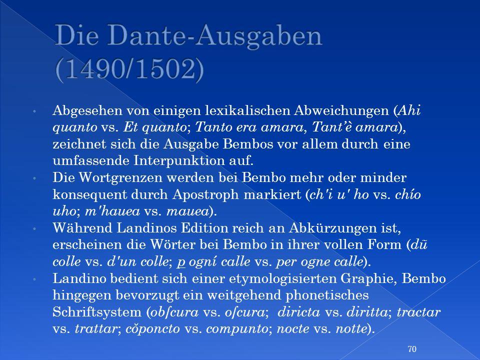 Die Dante-Ausgaben (1490/1502)