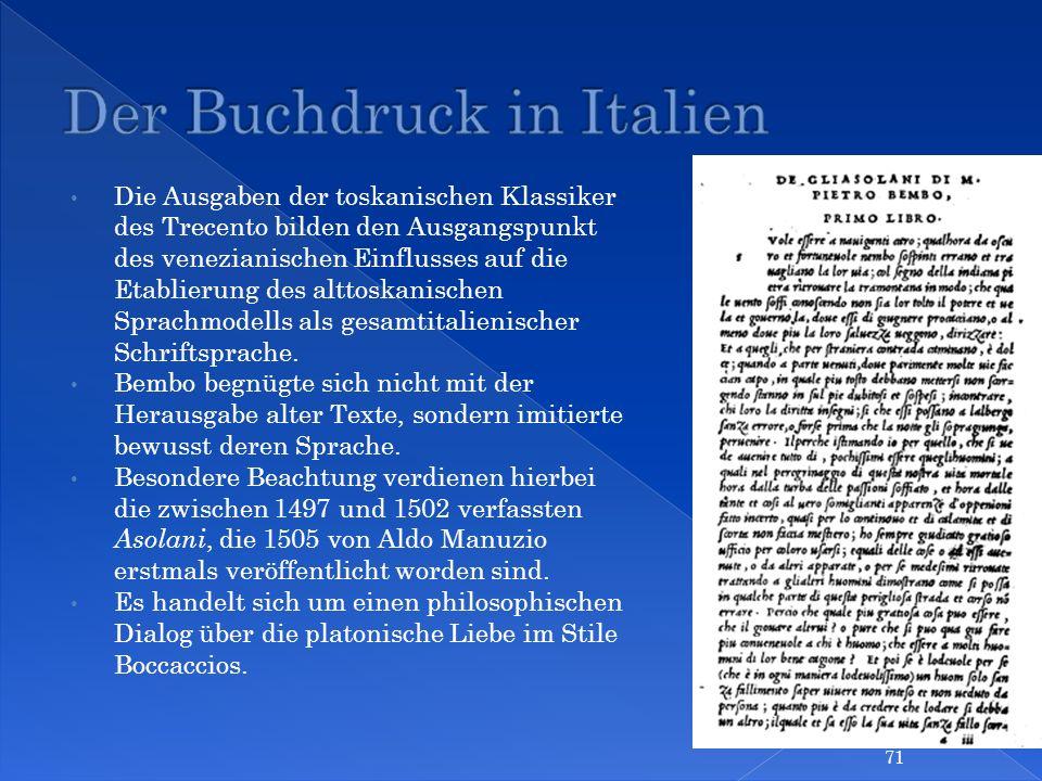 Der Buchdruck in Italien