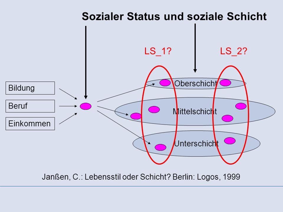 Sozialer Status und soziale Schicht