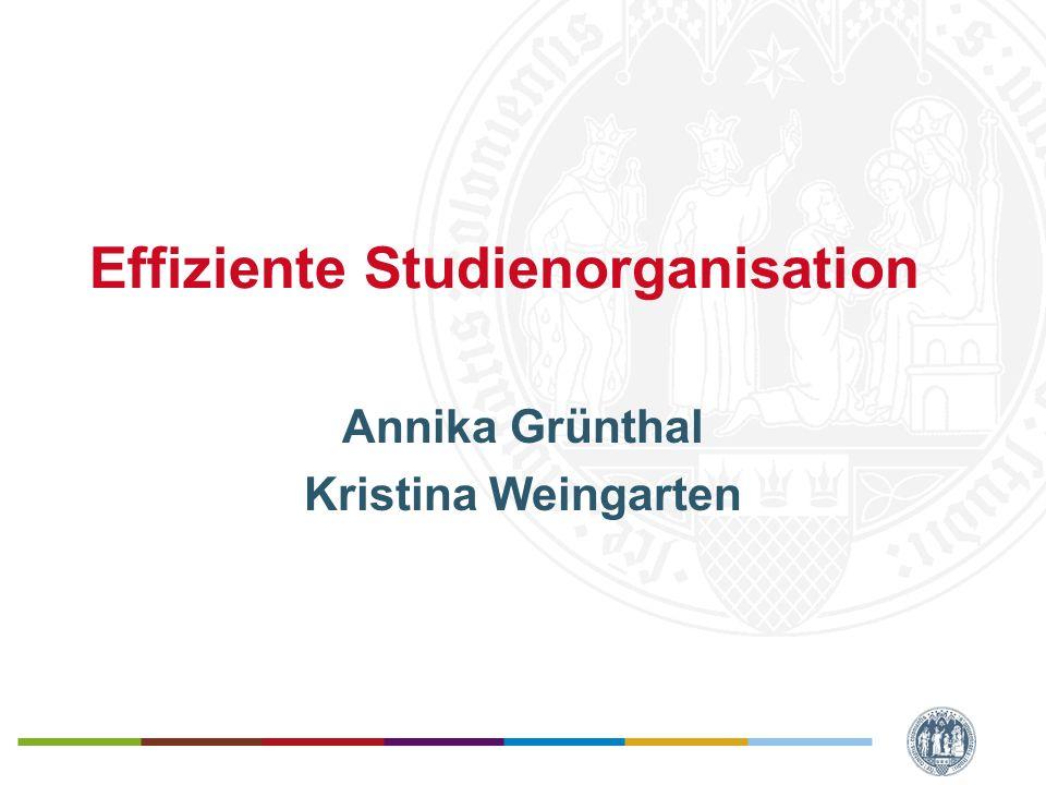 Effiziente Studienorganisation