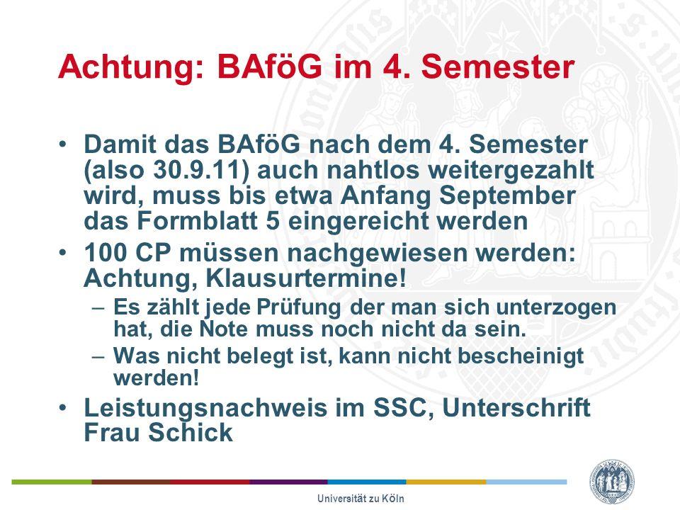 Achtung: BAföG im 4. Semester