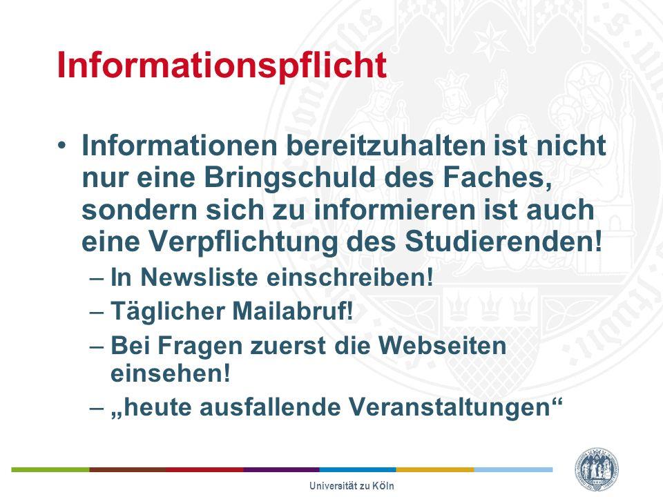 Informationspflicht