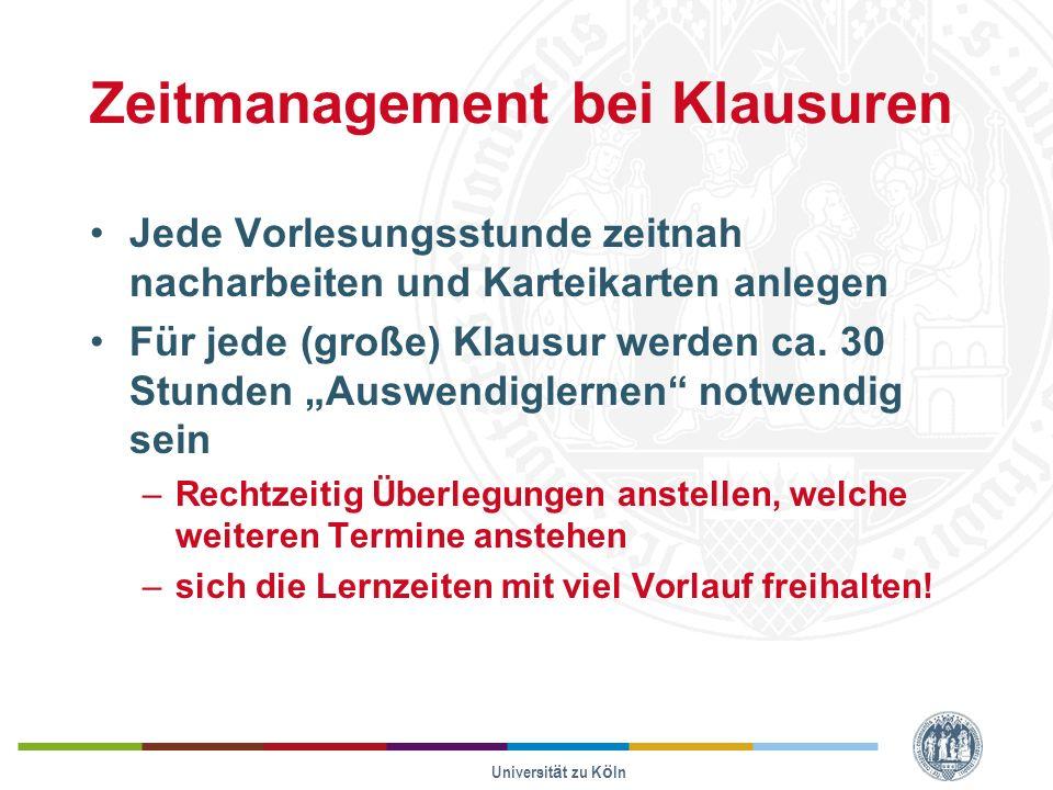 Zeitmanagement bei Klausuren