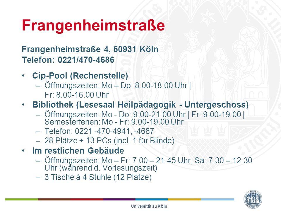 Frangenheimstraße Frangenheimstraße 4, 50931 Köln