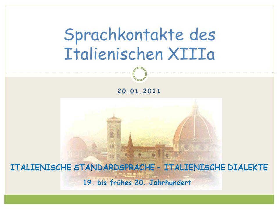 Sprachkontakte des Italienischen XIIIa