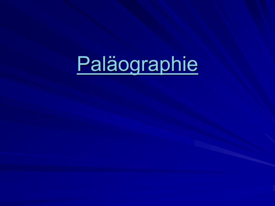 Paläographie
