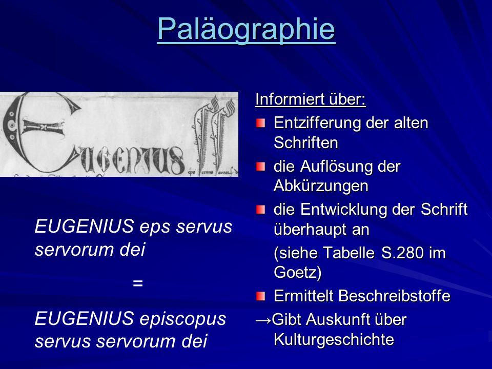 Paläographie EUGENIUS eps servus servorum dei =