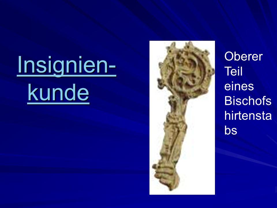 Insignien-kunde Oberer Teil eines Bischofshirtenstabs