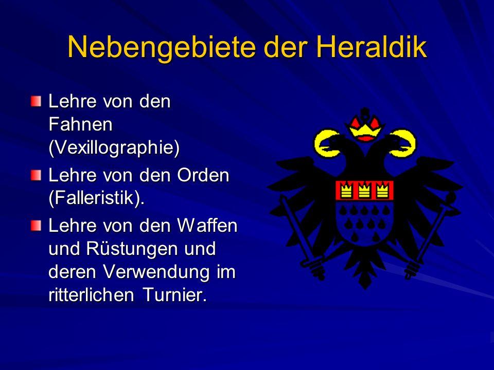Nebengebiete der Heraldik
