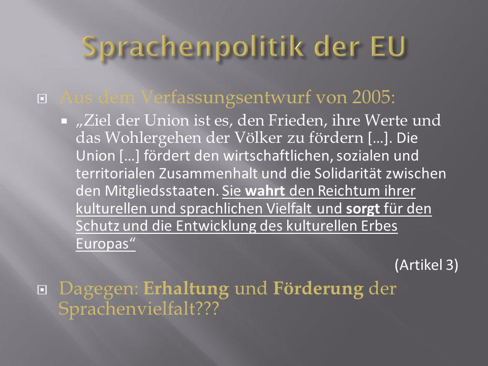 Sprachenpolitik der EU