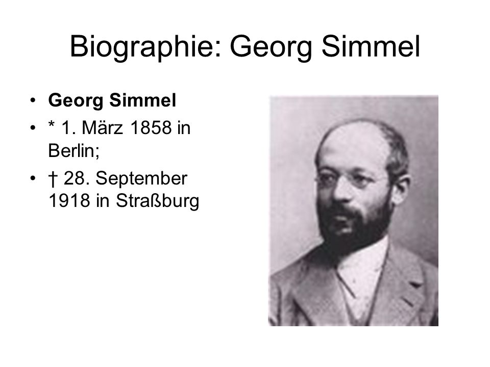 Biographie: Georg Simmel