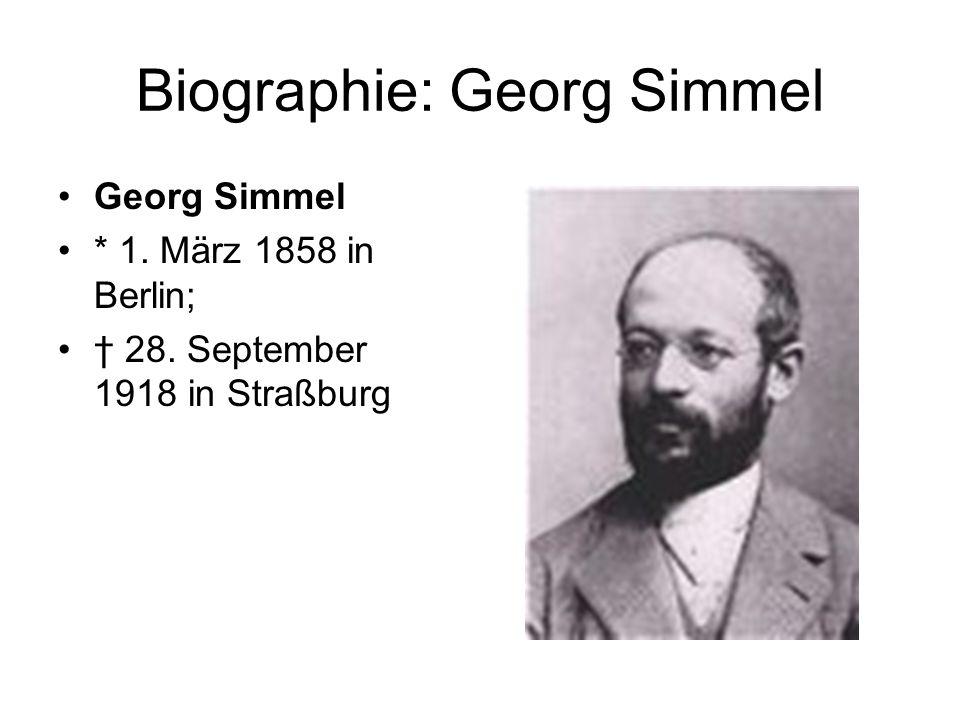 Biographie: Georg Simmel