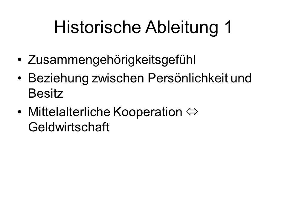 Historische Ableitung 1