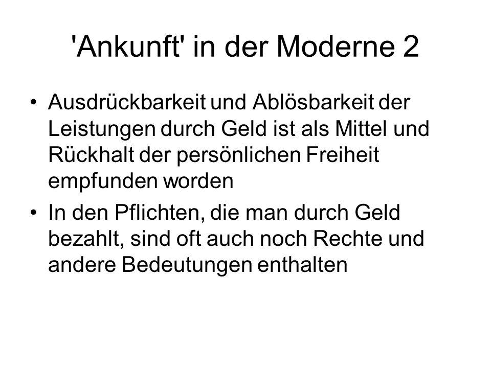 Ankunft in der Moderne 2
