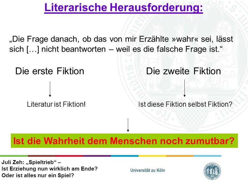 Literarische Herausforderung:
