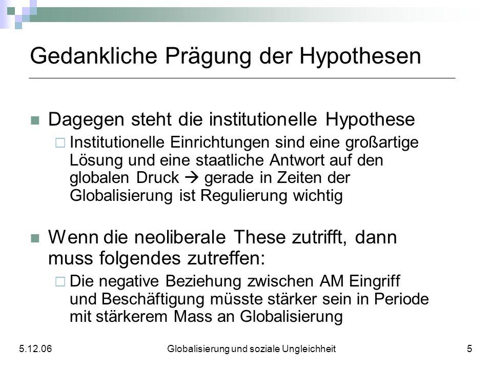 Gedankliche Prägung der Hypothesen