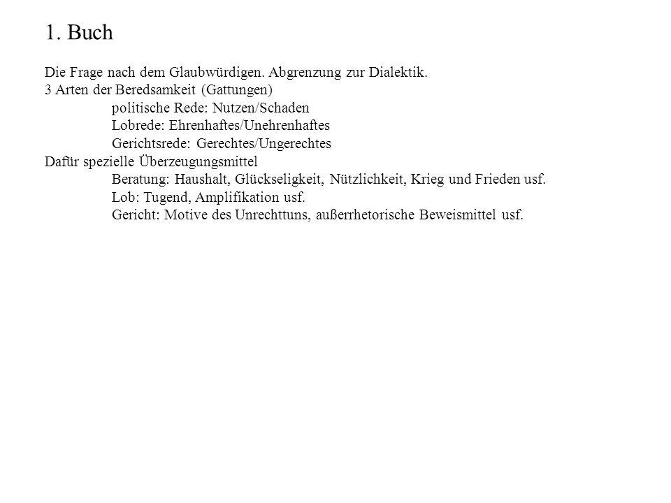 1. Buch Die Frage nach dem Glaubwürdigen. Abgrenzung zur Dialektik.