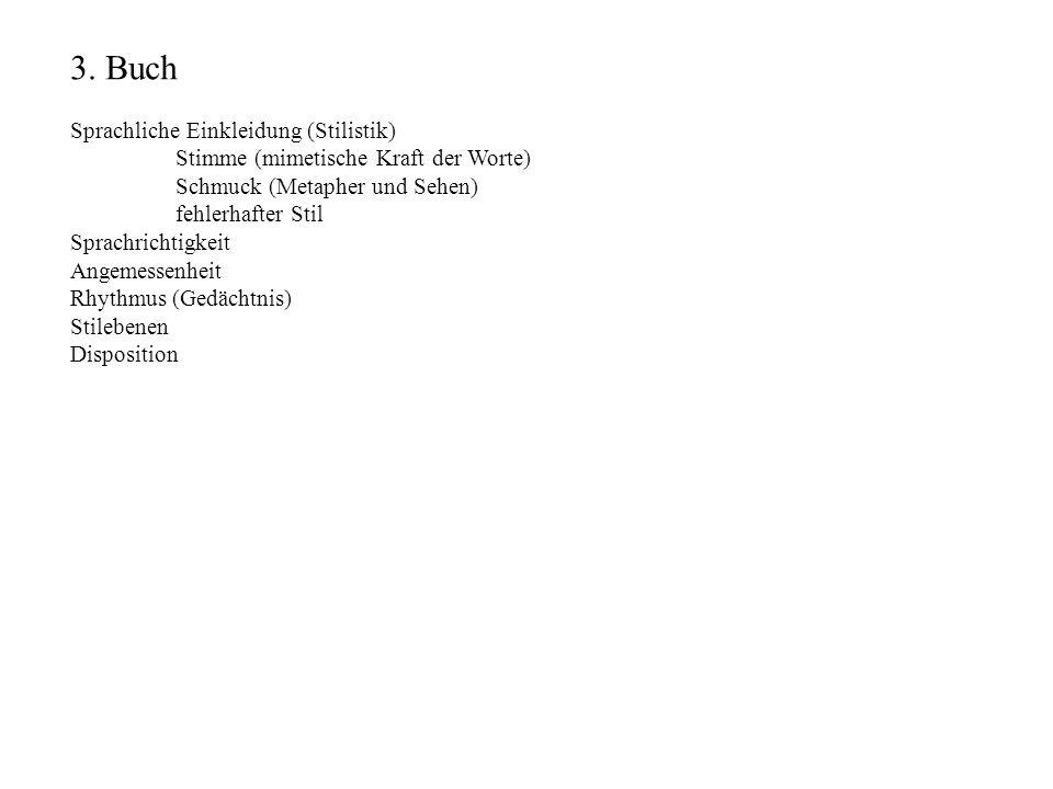 3. Buch Sprachliche Einkleidung (Stilistik)