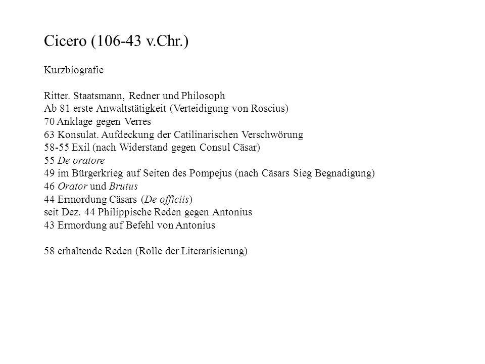 Cicero (106-43 v.Chr.) Kurzbiografie