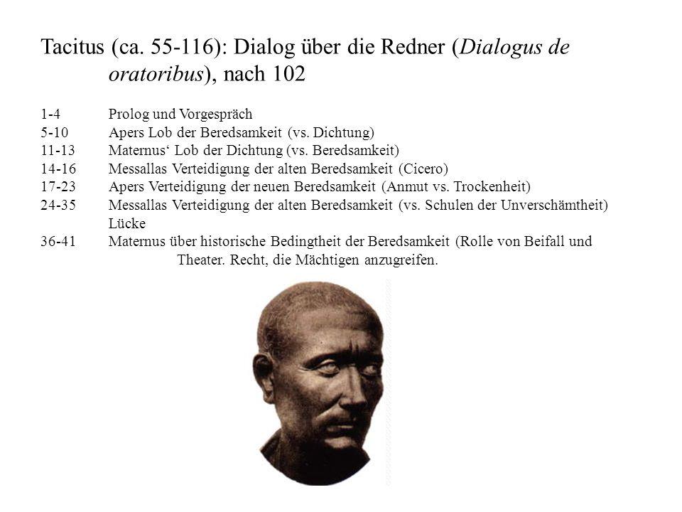 Tacitus (ca. 55-116): Dialog über die Redner (Dialogus de