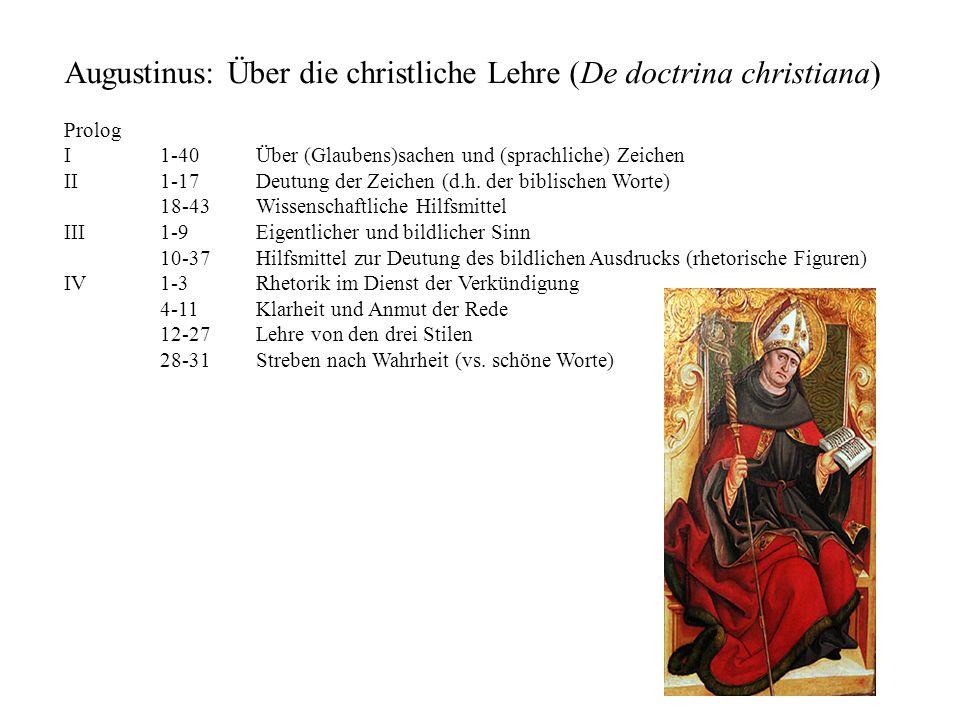 Augustinus: Über die christliche Lehre (De doctrina christiana)