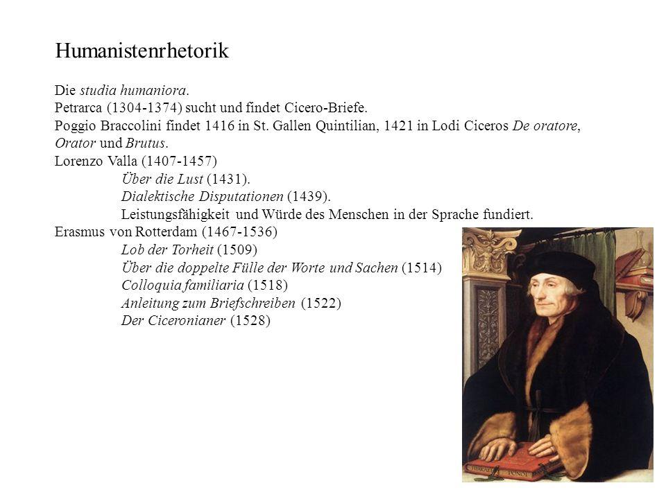 Humanistenrhetorik Die studia humaniora.