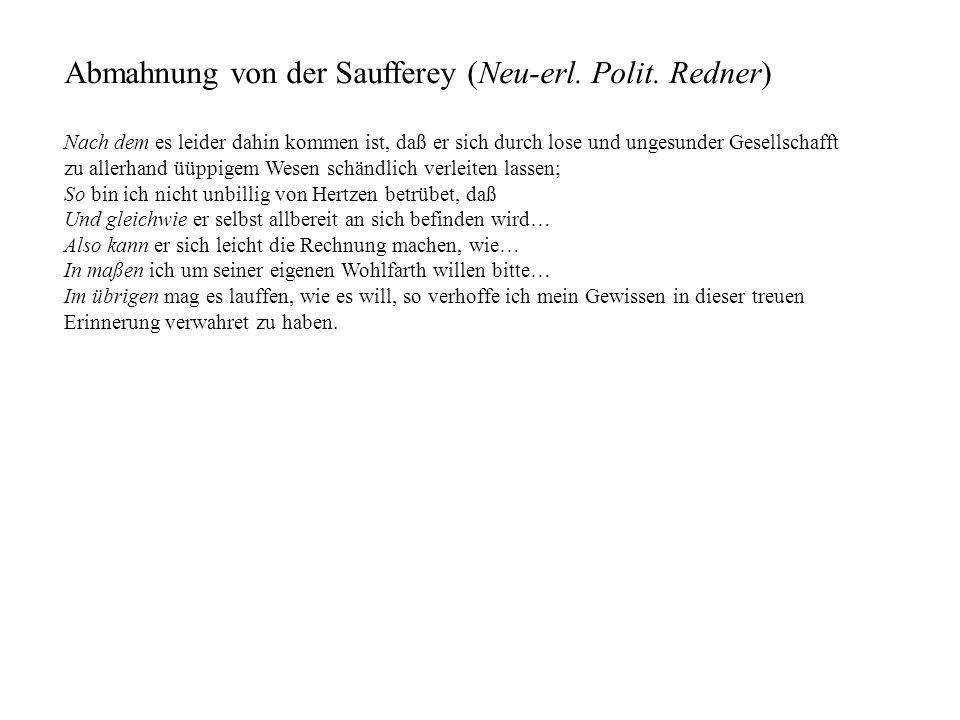 Abmahnung von der Saufferey (Neu-erl. Polit. Redner)
