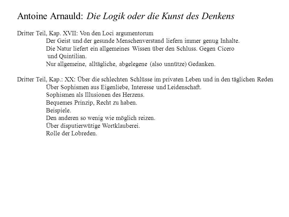 Antoine Arnauld: Die Logik oder die Kunst des Denkens