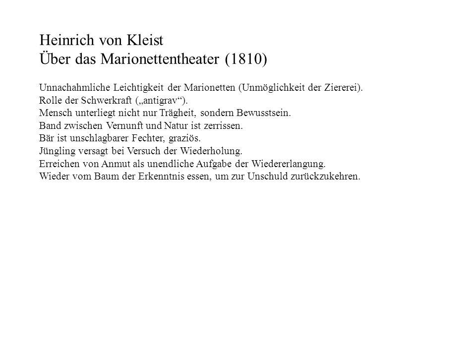 Über das Marionettentheater (1810)