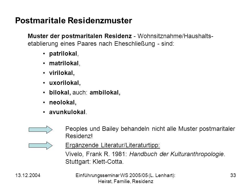 Postmaritale Residenzmuster