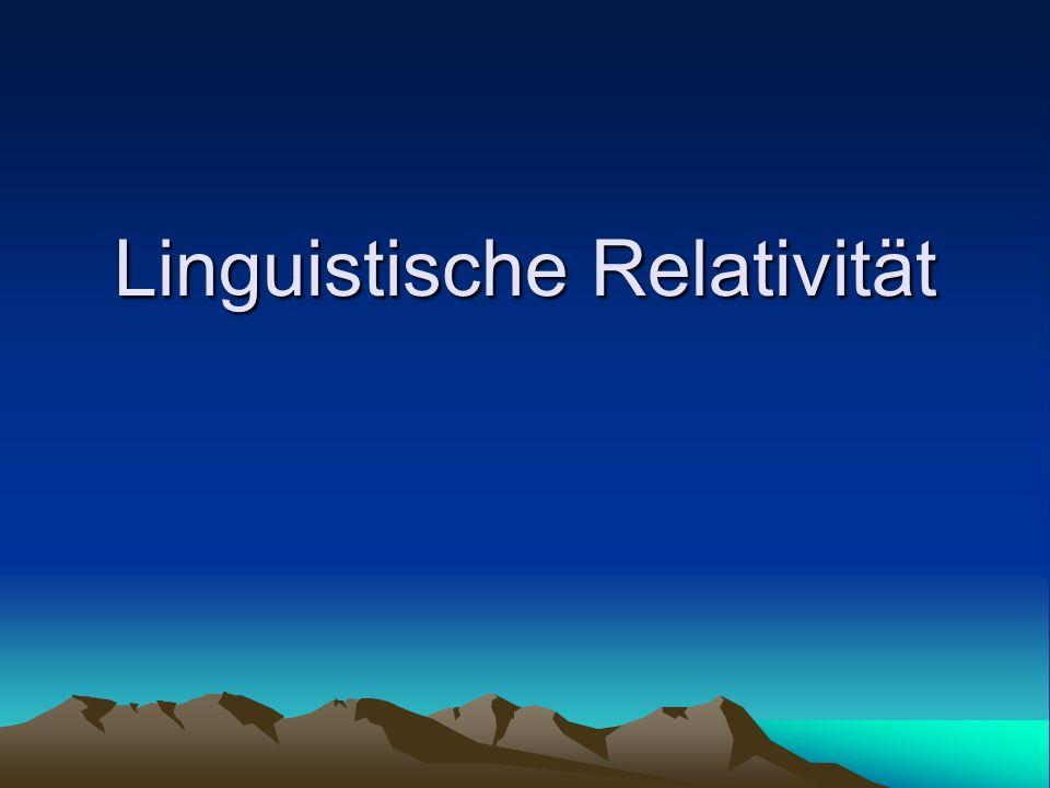 Linguistische Relativität