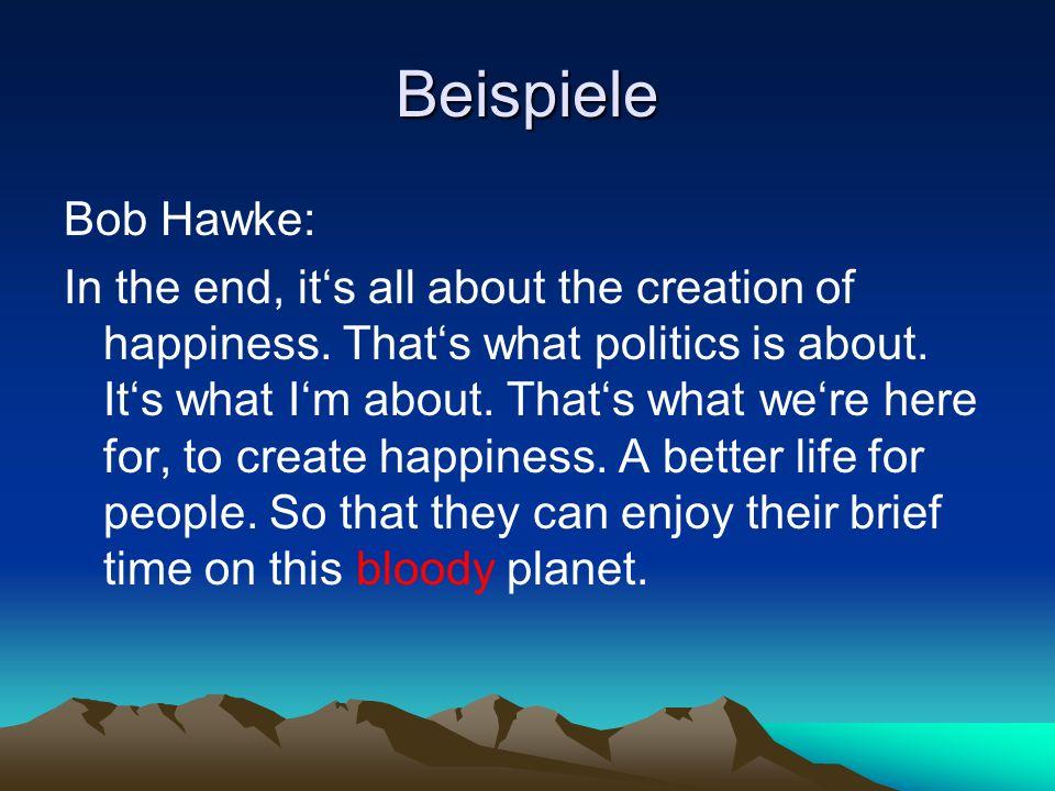 Beispiele Bob Hawke: