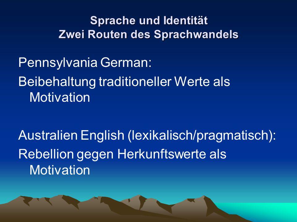 Sprache und Identität Zwei Routen des Sprachwandels