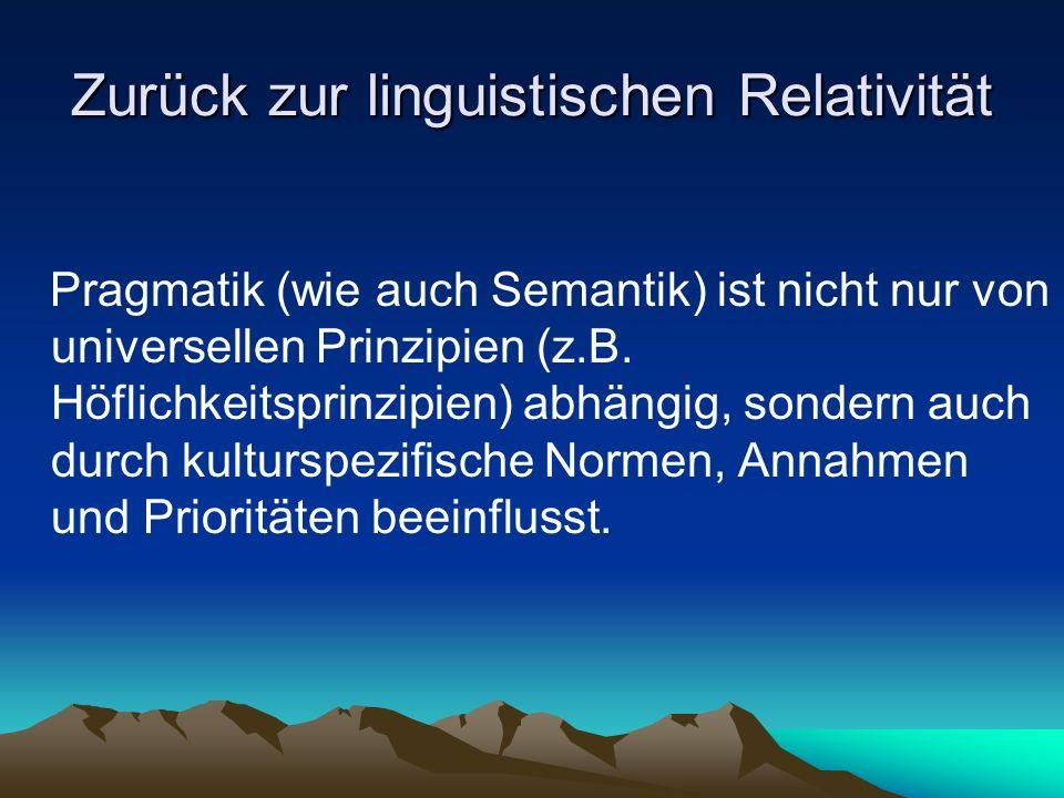 Zurück zur linguistischen Relativität