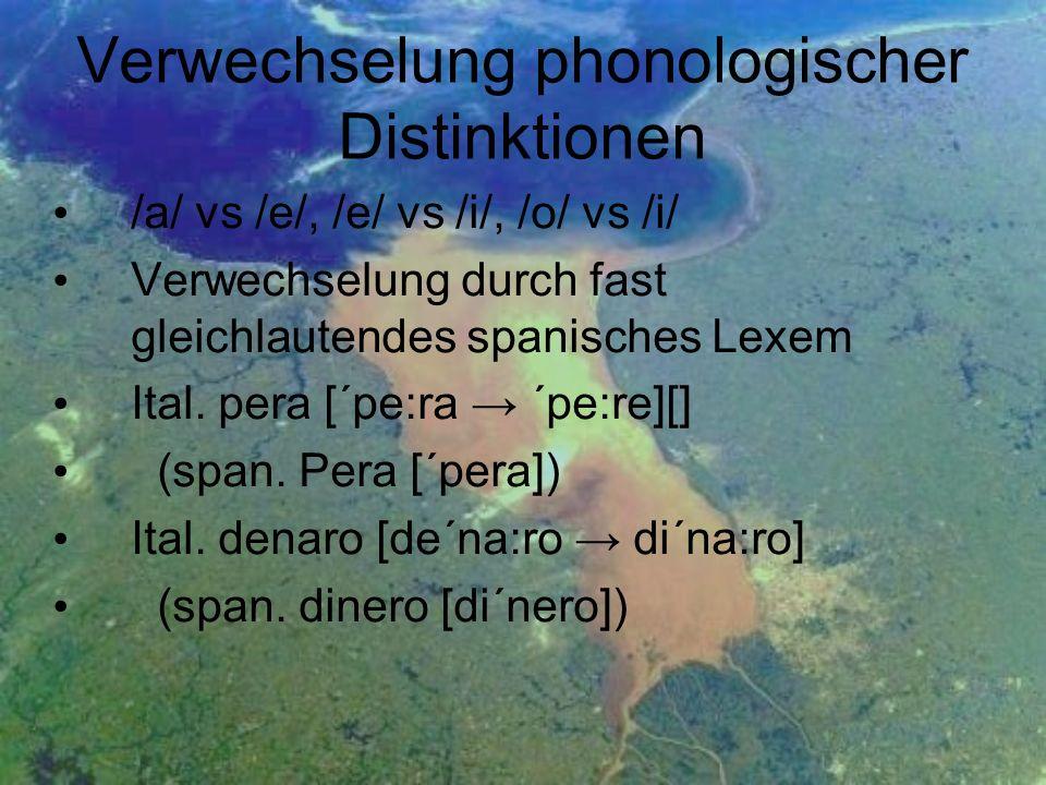 Verwechselung phonologischer Distinktionen