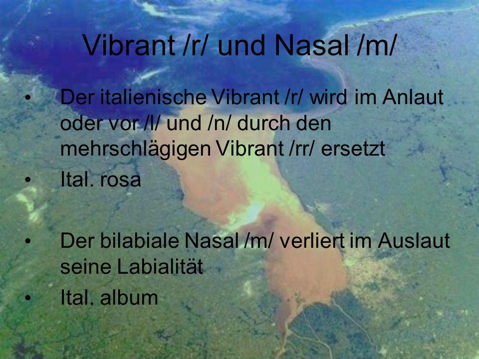 Vibrant /r/ und Nasal /m/