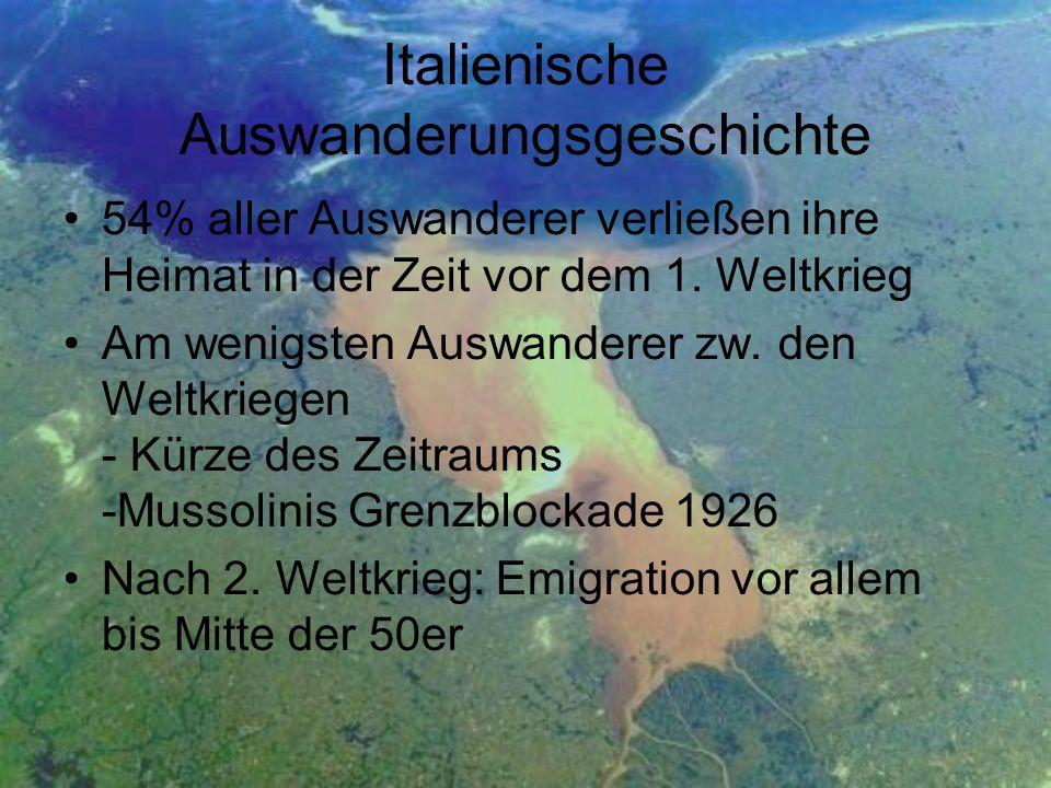 Italienische Auswanderungsgeschichte