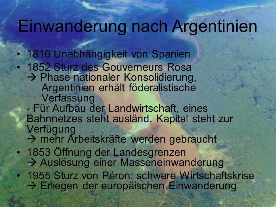 Einwanderung nach Argentinien