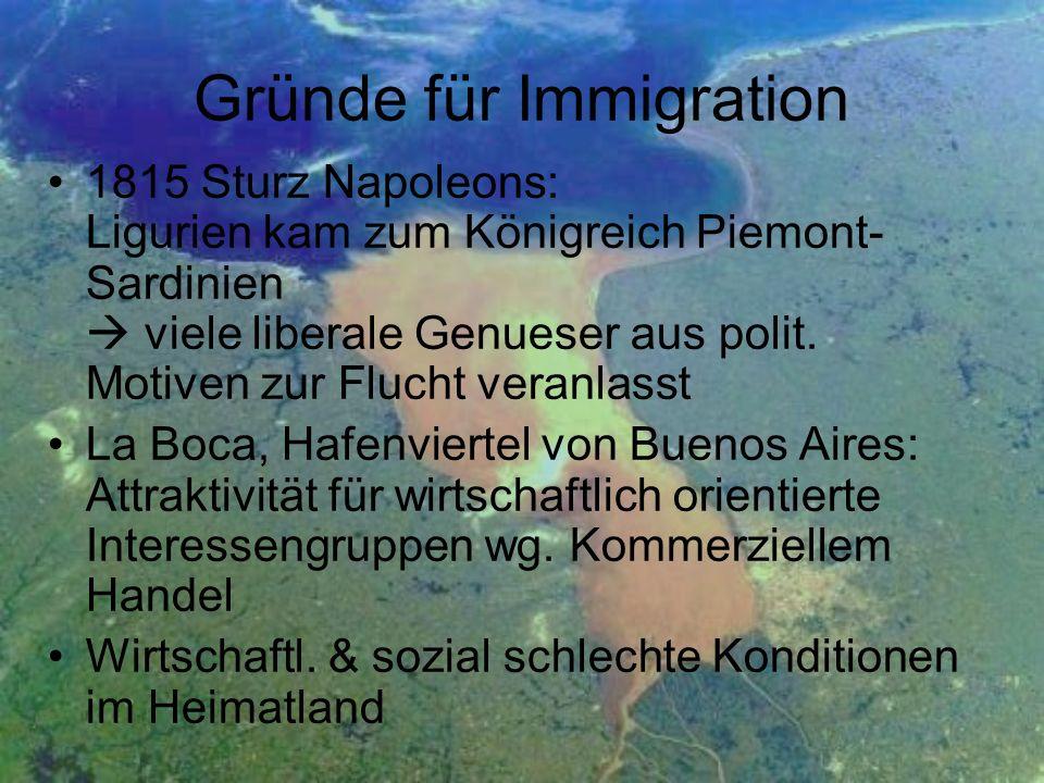 Gründe für Immigration
