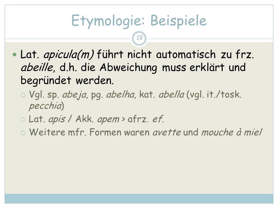 Etymologie: Beispiele