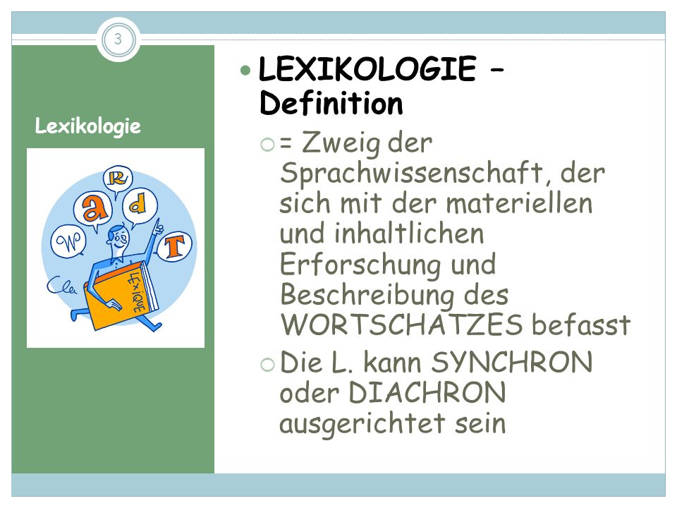 LEXIKOLOGIE – Definition