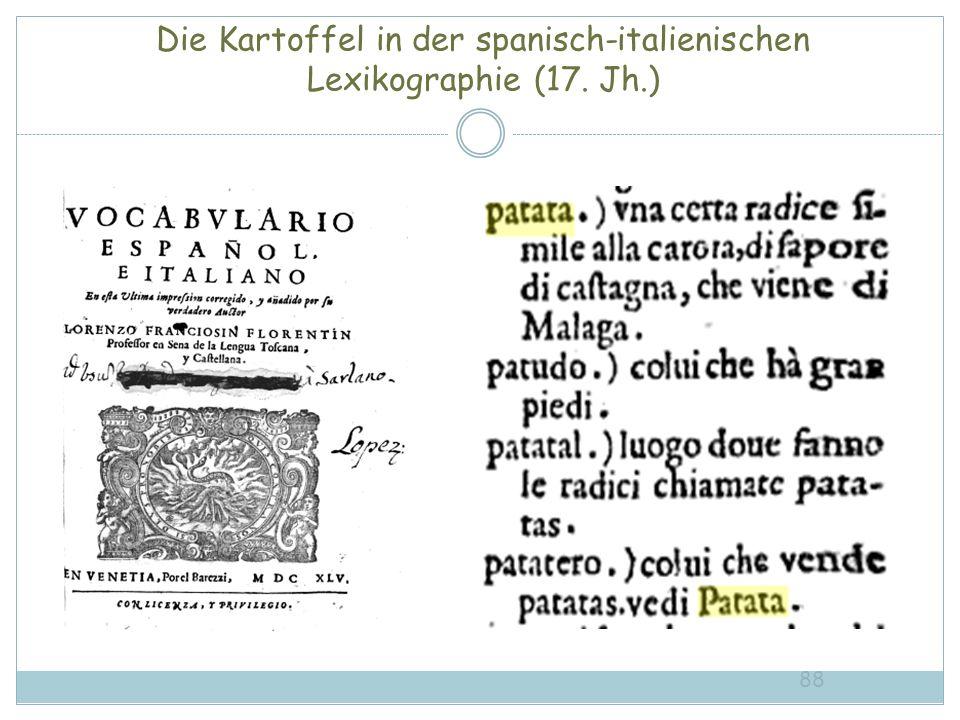 Die Kartoffel in der spanisch-italienischen Lexikographie (17. Jh.)
