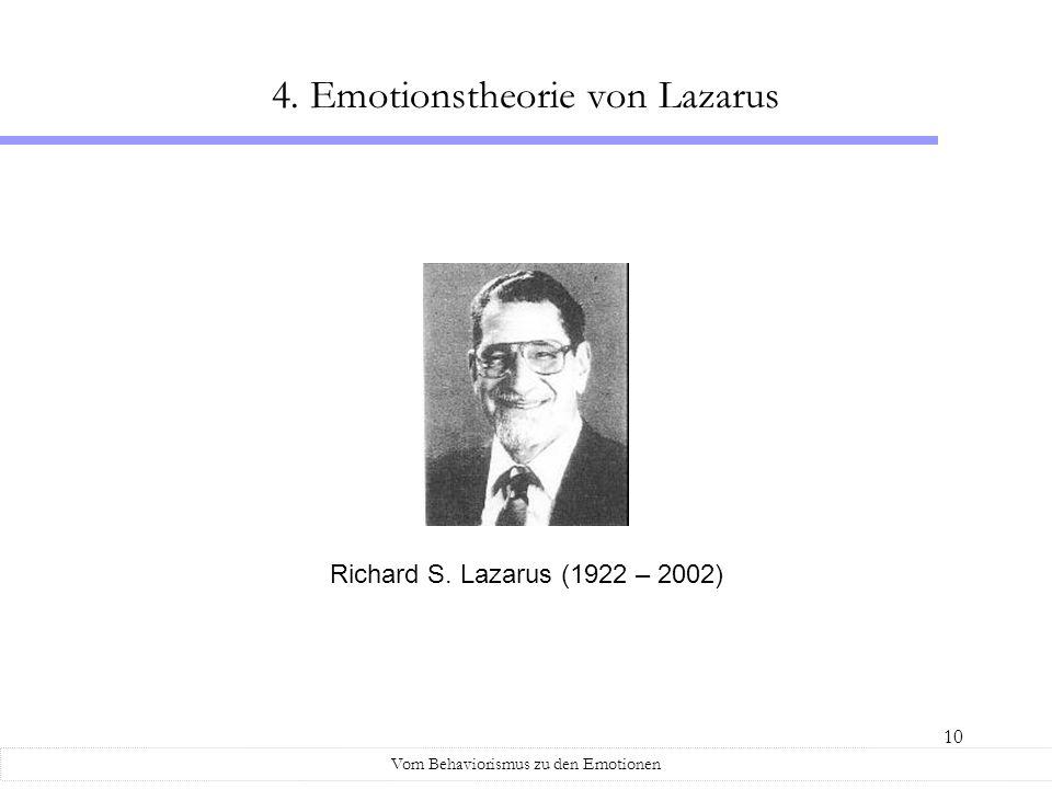 4. Emotionstheorie von Lazarus