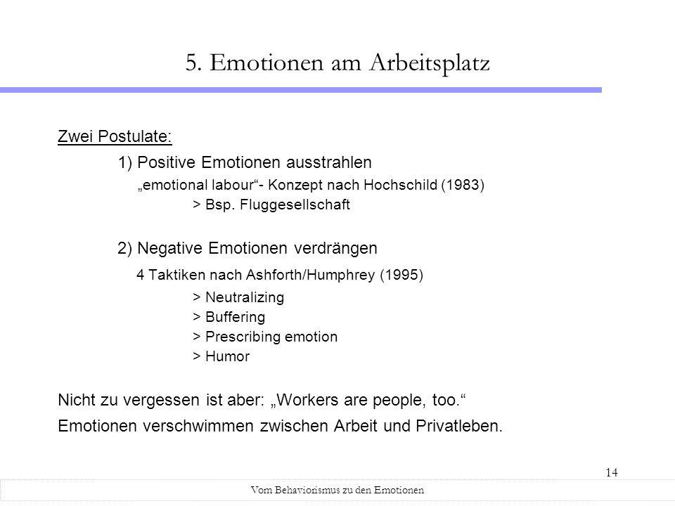 5. Emotionen am Arbeitsplatz