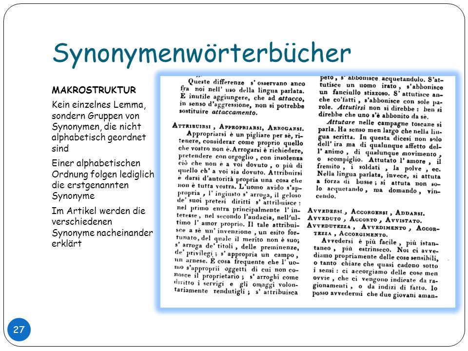 Synonymenwörterbücher