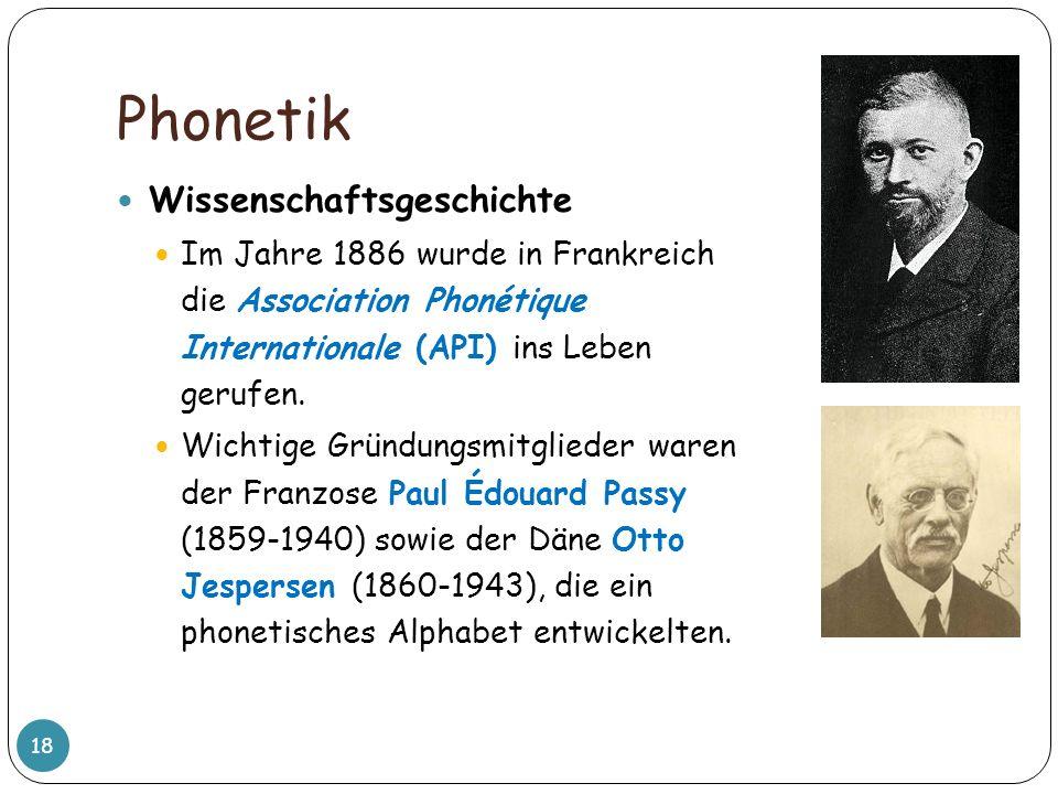 Phonetik Wissenschaftsgeschichte