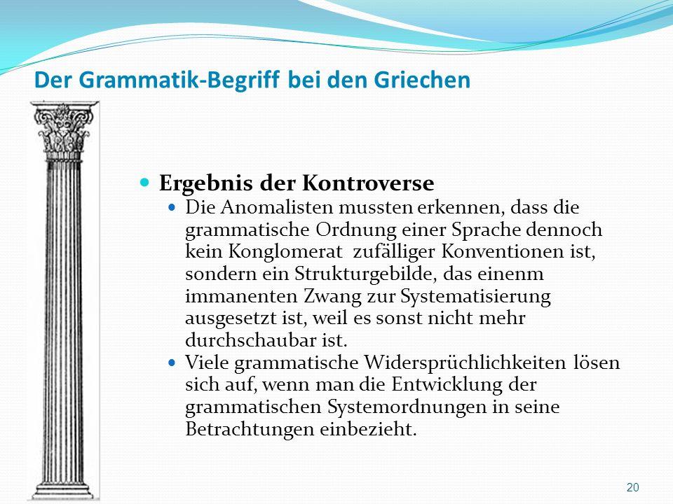Der Grammatik-Begriff bei den Griechen
